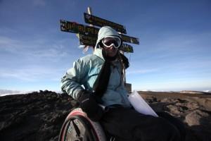 Erica Davis on Mt Kilimanjaro Summit